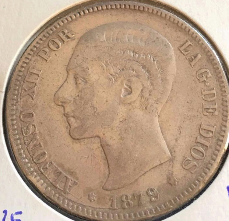 5 pesetas 1879. Alfonso XII. Opinión. Alf_110