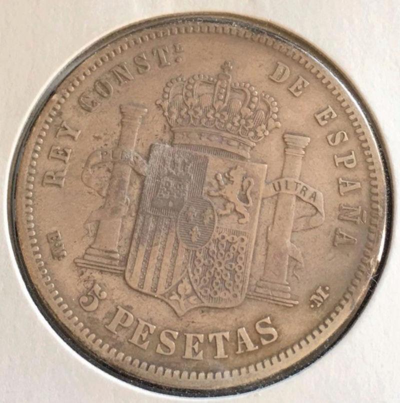 5 pesetas 1879. Alfonso XII. Opinión. Alf_210