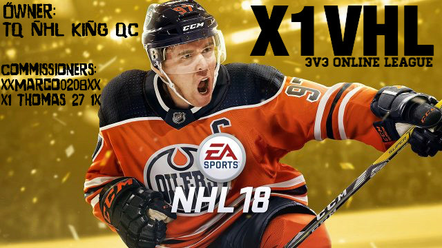 Xbox 1 Virtual Hockey League