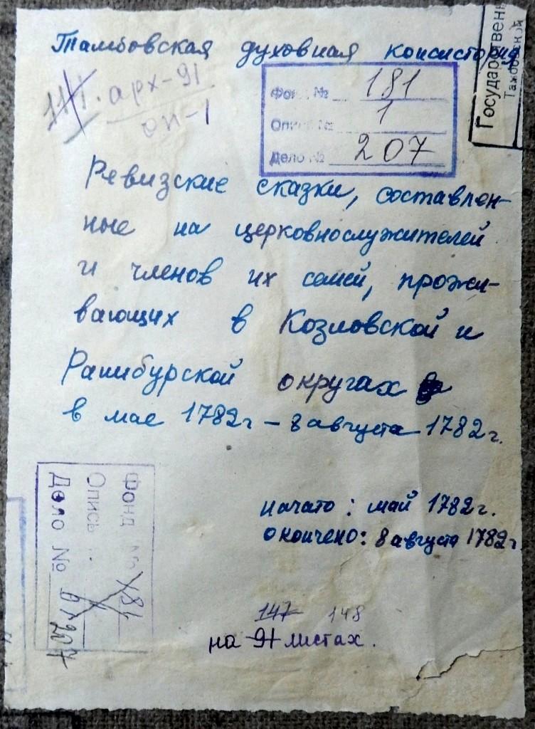 Фамилии уроженцев и жителей села Старосеславино по которым ведется поиск   1782_y10