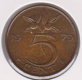 Moneda de Holanda Dinama11