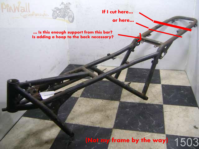 MIG Weld cafe hoop to subframe while engine still in frame? Cuttin11