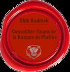 Missive cachetée du sceau de La Banque de Platine M-404310