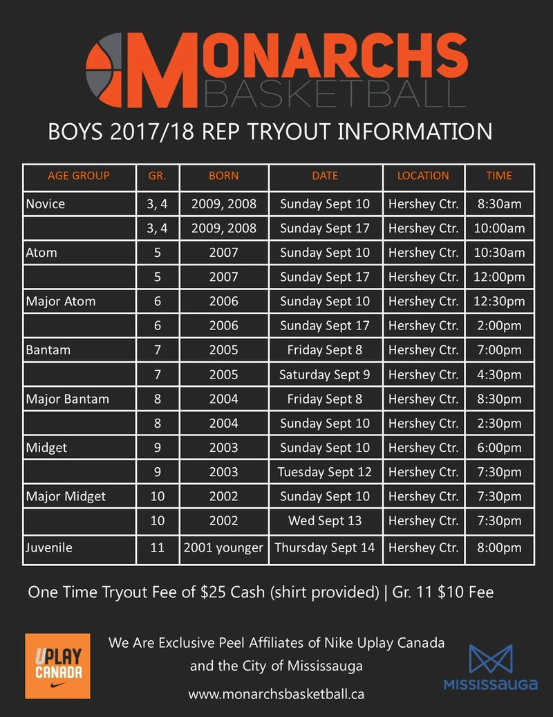 Mississauga Monarchs Tryouts Begin Today 210