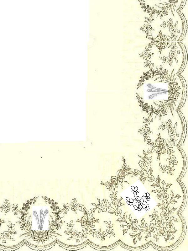 Robe muguet et violettes Bordur10