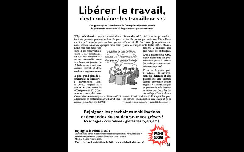 Communiqué du Front social - S'unir pour ne plus subir 2 manifestations 21 septembre à Manosque et à Digne  Captur10