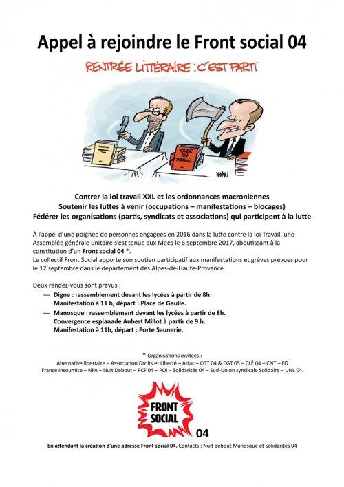 Communiqué Compte Rendu et Tract pour Front social 04 Tract-10