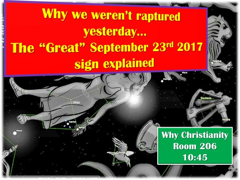 Why We Weren't Raptured Yesterday - Why Christianity? Returns to Garland! 842d6510