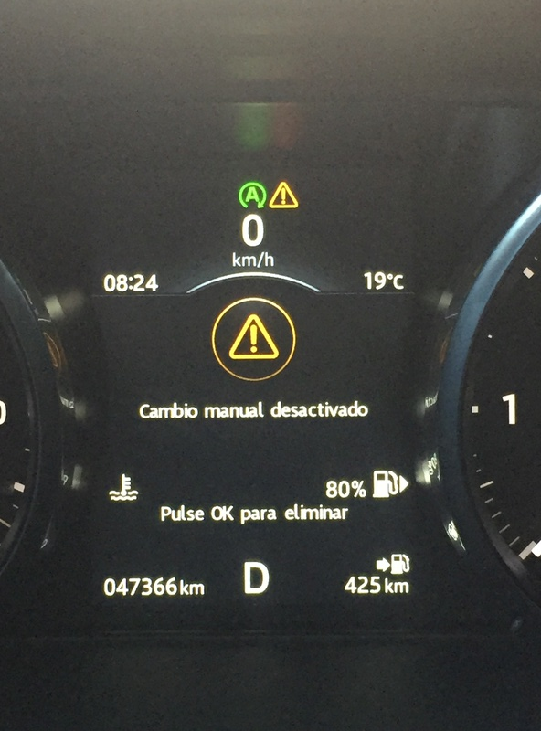 CAMBIO MANUAL DESACTIVADO Evo11