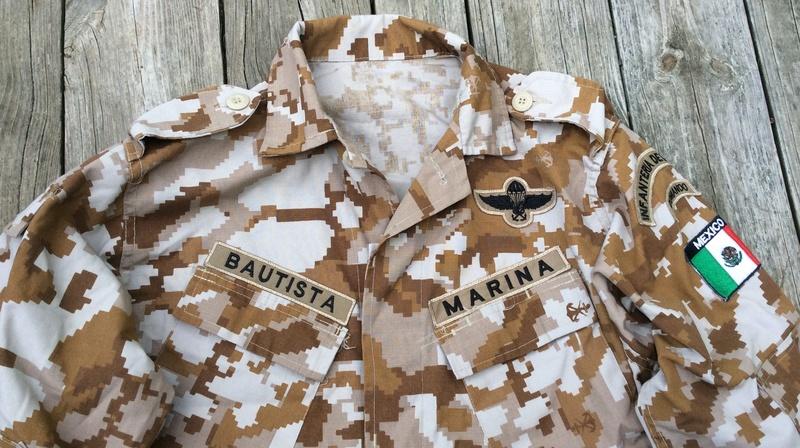 Mexican Commando Marine Camouflage Top Mex_ca11