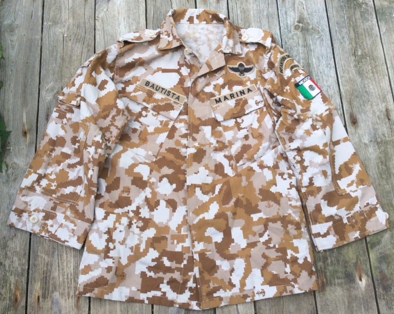 Mexican Commando Marine Camouflage Top Mex_ca12