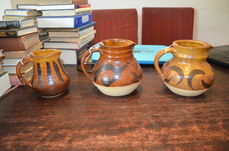Three rustic jugs with AK mark Dsc_1722