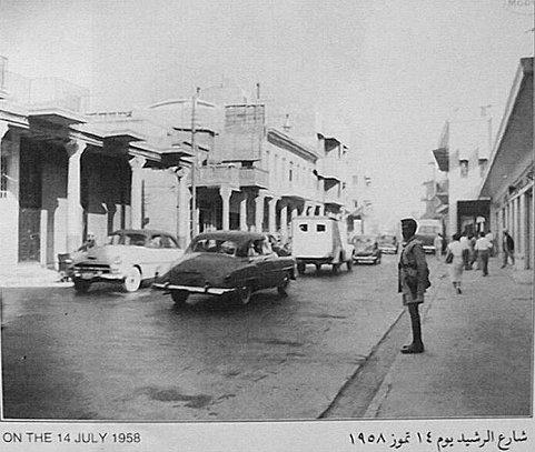 شارع الرشيد يوم 14تموز عام 1958م _oa_au11