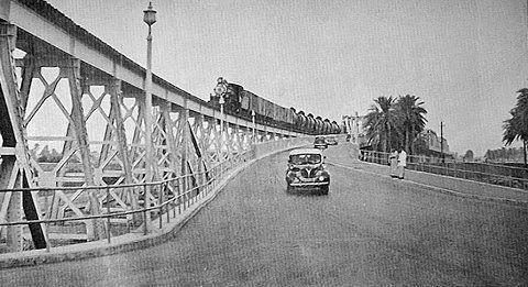 جسر الصرافية في بغداد عام 1950 _oeiau10
