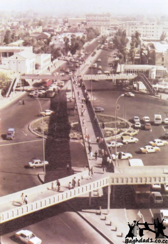 جسر المشاة في باب المعظم أيام زمان _oo_ia10