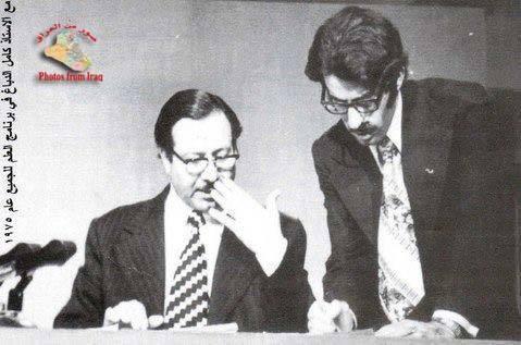 كامل الدباغ مع المخرج ابراهيم البدري عام 1975 Doo_o_10