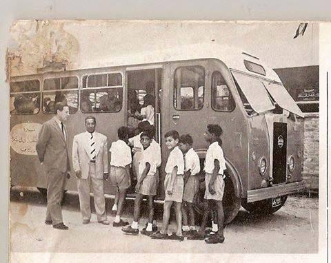 صورة لباص مدرسة في البصره عام 1955 Eu_oe_10
