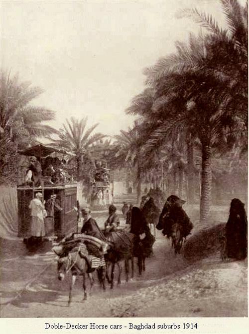 إستخدام الأحصنة كوسيلة للنقل في بغداد عام 1914م O_oeou10