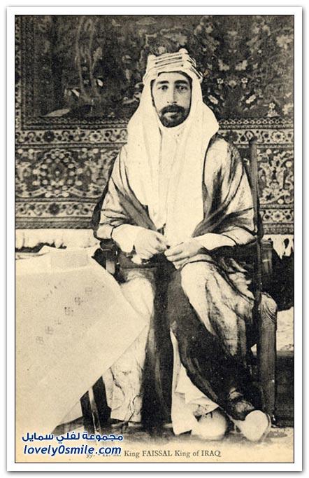 الملك الهاشمي فيصل الأول بعد تتويجه ملك العراق من قبل البريطانيين Oood_o10