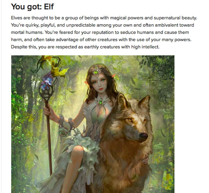 What Mythological Creature Are You? Screen12