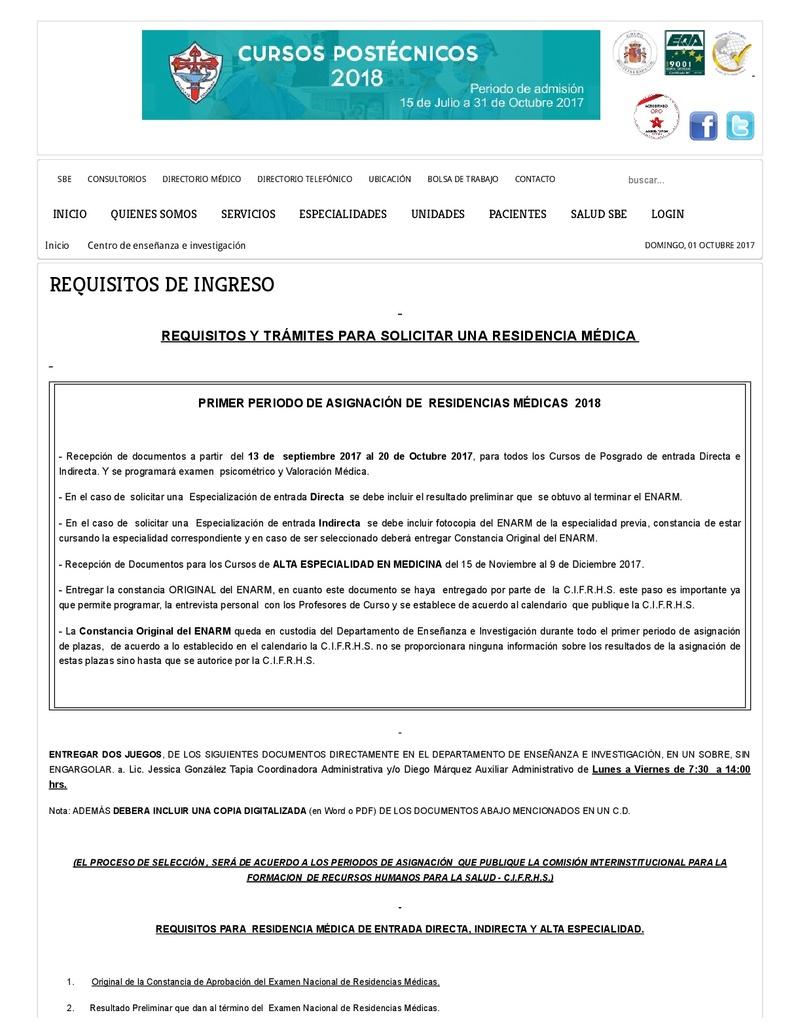 español - CONVOCATORIA HOSPITAL ESPAÑOL 2018 Centro10