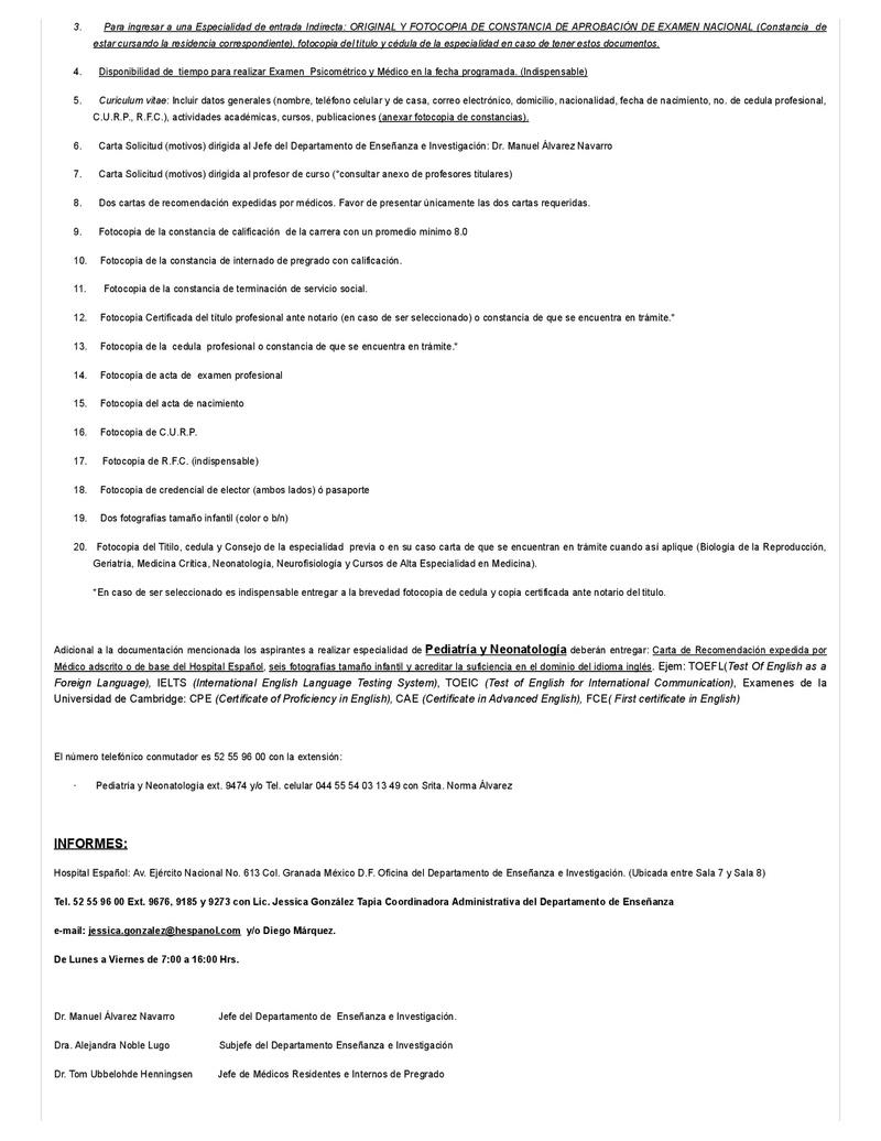 español - CONVOCATORIA HOSPITAL ESPAÑOL 2018 Centro11