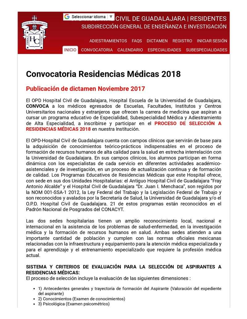 Convocatoria Hospitales Civil Guadalajara 2018 Hcg-op11