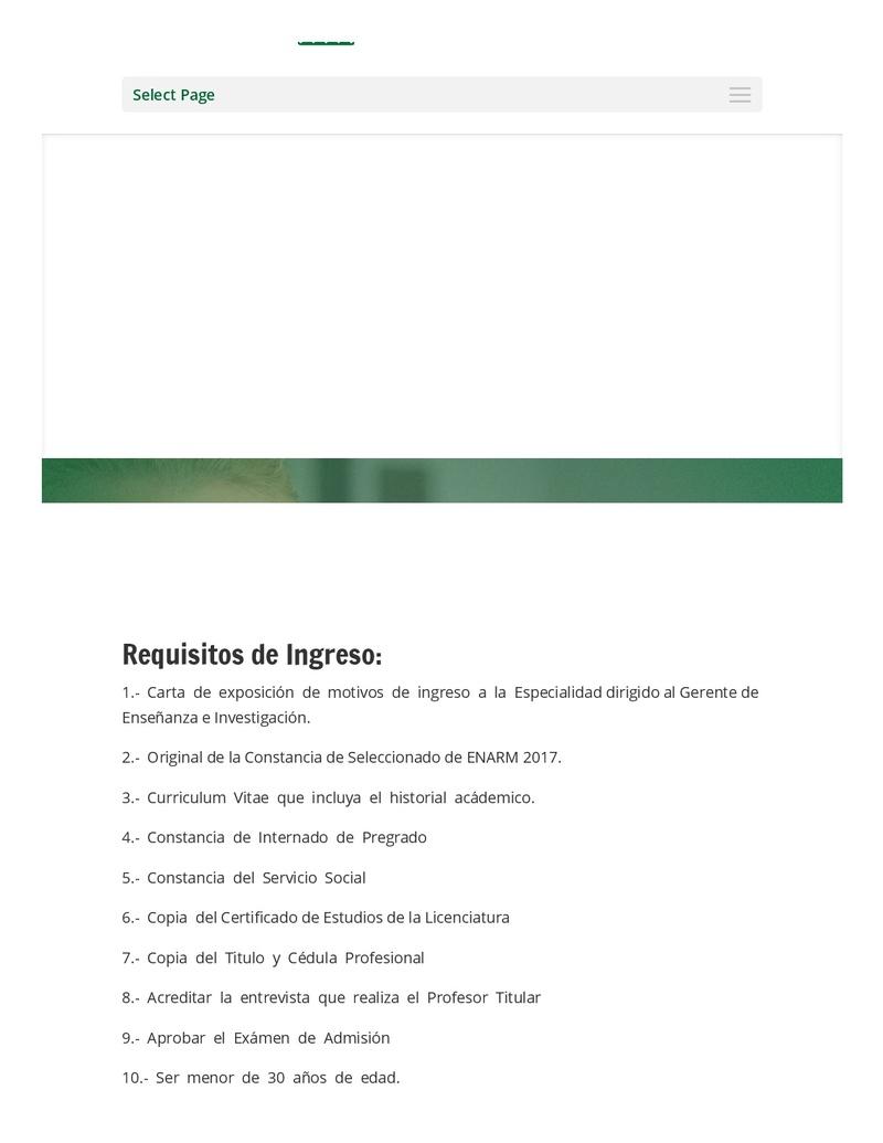 CONVOCATORIA SANATORIO DURANGO 2018 Reside10