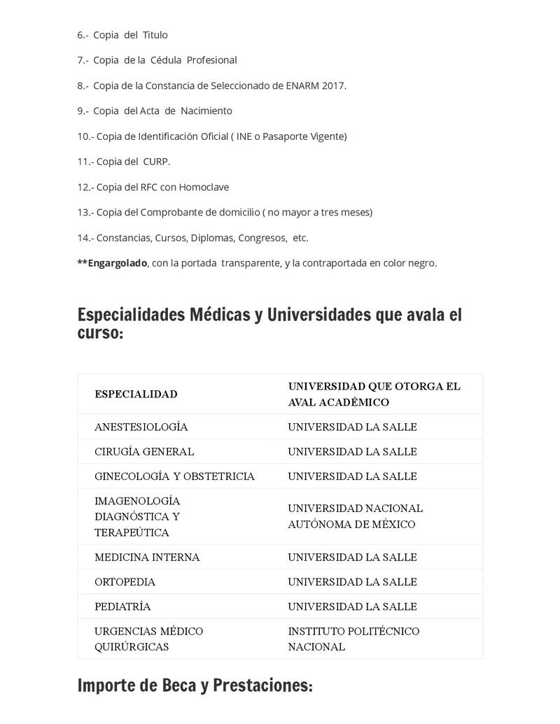 CONVOCATORIA SANATORIO DURANGO 2018 Reside12