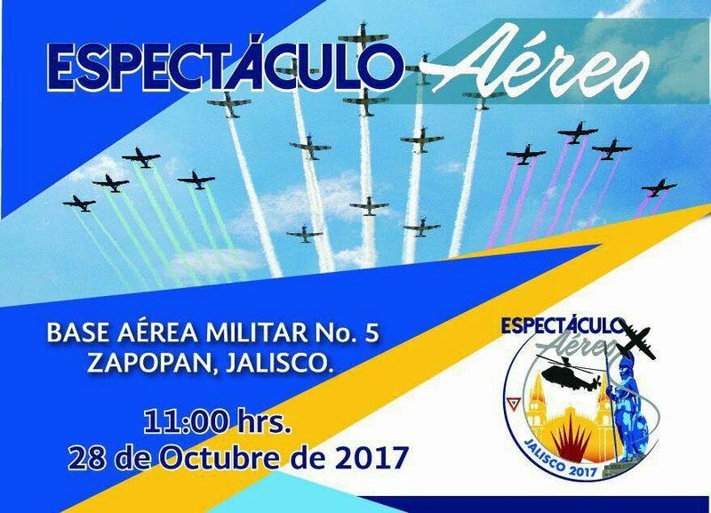 Anuncian espectaculo aereo en la Base Aerea Militar No. 5 de Zapopan. Zap10