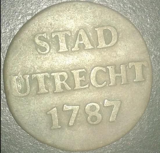 Paises Bajos Utrecht Duit Año 1787 Sin_ty10