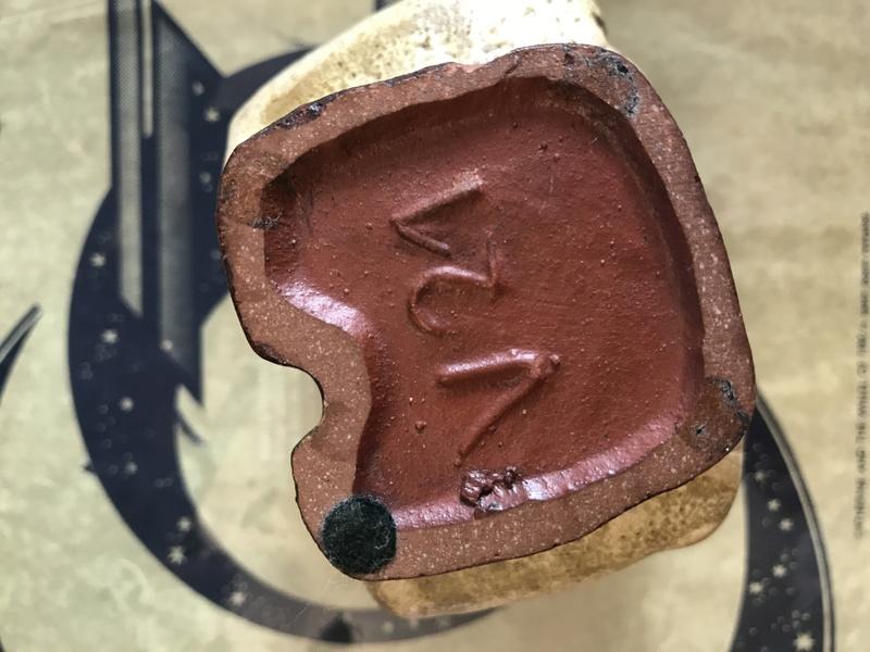 Vase with potter's sticker - Helmut Schaffenacker Img_4510