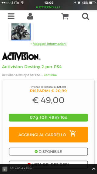 Destiny 2 scontato al 30% Img_9710