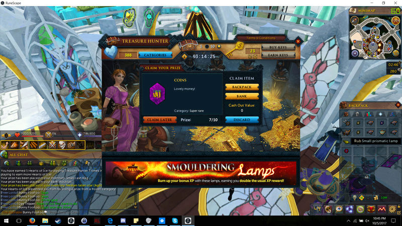 All my RNG, wasted on RS3... Ohmygo10