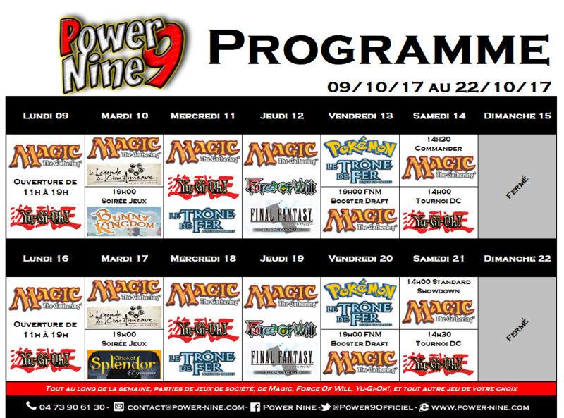 Programme des events du 09/10/17 AU 22/10/17  P9_pla11