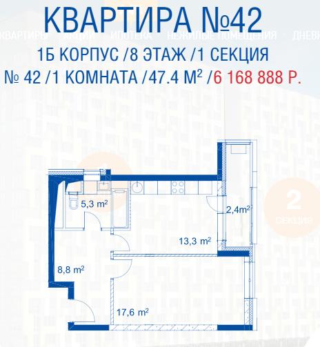 Открылись продажи квартир в корпусах 1а и 1б Kpedfh10
