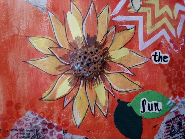 """Provocare Art Journaling septembrie: """"Floarea soarelui"""" - Maria Oprea Alina_10"""