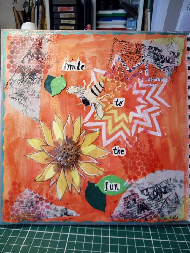 """Provocare Art Journaling septembrie: """"Floarea soarelui"""" - Maria Oprea Alina_11"""