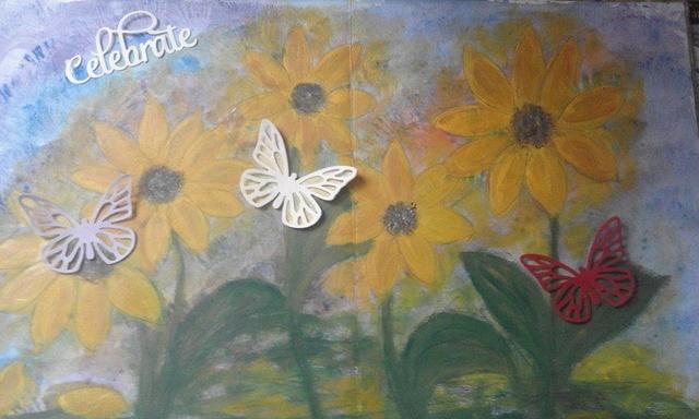 """Provocare Art Journaling septembrie: """"Floarea soarelui"""" - Maria Oprea Ciorne10"""