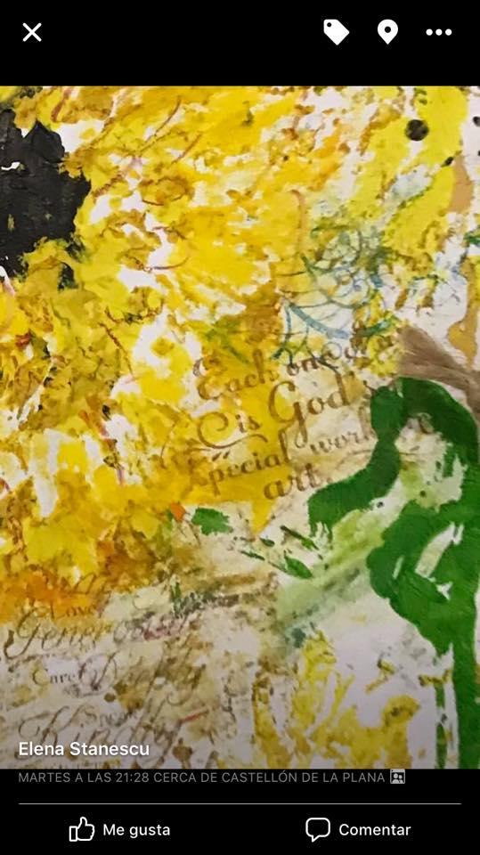 """Provocare Art Journaling septembrie: """"Floarea soarelui"""" - Maria Oprea Elena_10"""