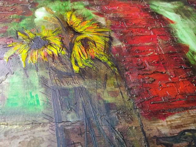 """Provocare Art Journaling septembrie: """"Floarea soarelui"""" - Maria Oprea Husac_10"""