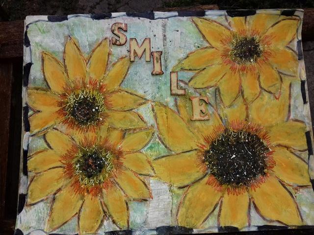 """Provocare Art Journaling septembrie: """"Floarea soarelui"""" - Maria Oprea Myozot10"""