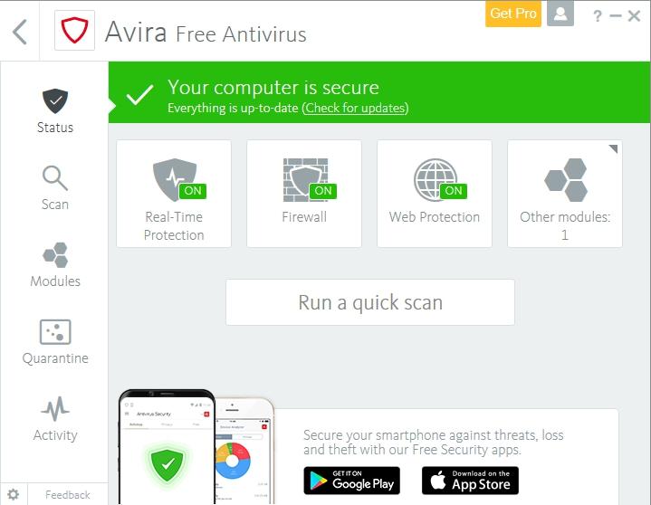 Avira Free Antivirus 15.0.2012.2066 Screen10