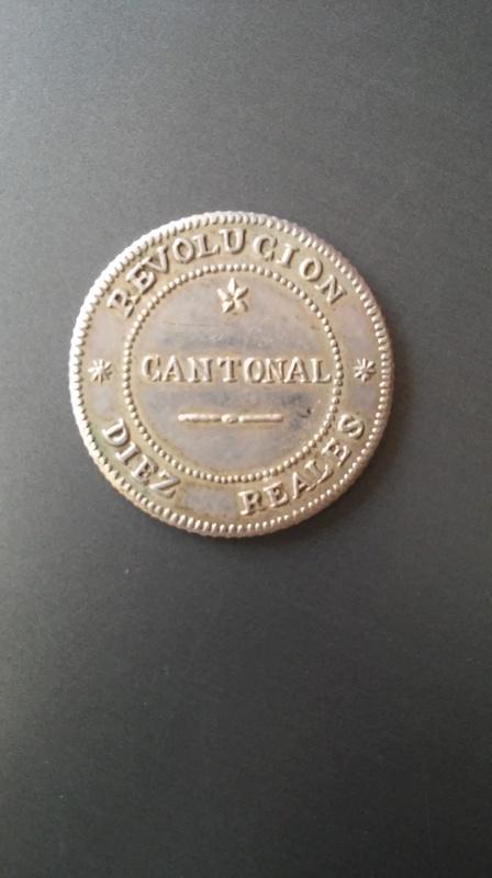 moneda 10 reales 1873 creo que es necesariamente autentica 20170910