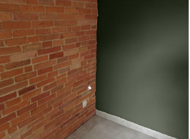peinture avec mur brique. Black Bedroom Furniture Sets. Home Design Ideas