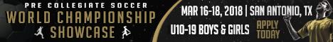 2018 World Pre-Collegiate Soccer Championship Tournament & Showcase Wcscba11