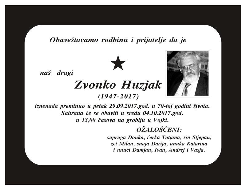 PILOT  ZVONKO  HUZJAK LEGENDA OTIŠAO JE TIHO 22179811
