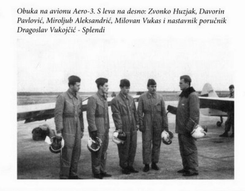 KRATKI SLIKOVNI PRIKAZ  ŠKOLOVANJA  PILOTA  ZVONKA HUZJAKA Aero-310