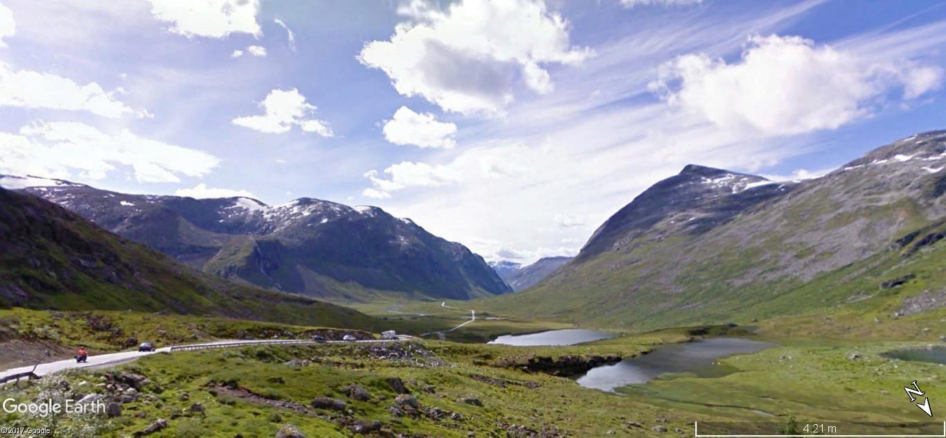 L'échelle du troll -Trollstigen en Norvège. Une route montagneuse spectaculaire A22