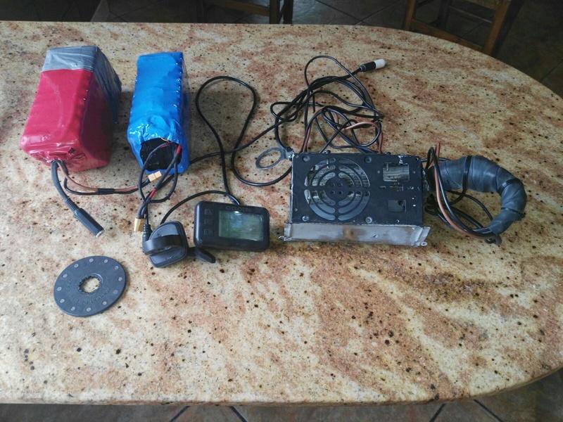 Vendo kit completo  DE  36v y 500 W + 2 baterías Samsung E6d65d10